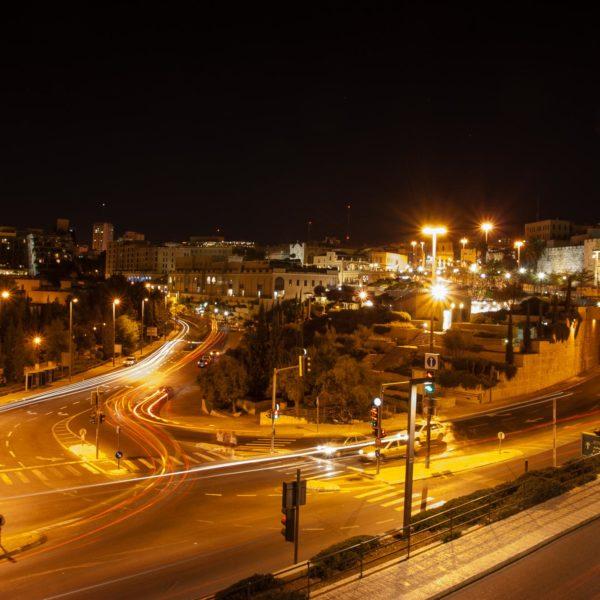 Blick von der Stadtmauer Jerusalems